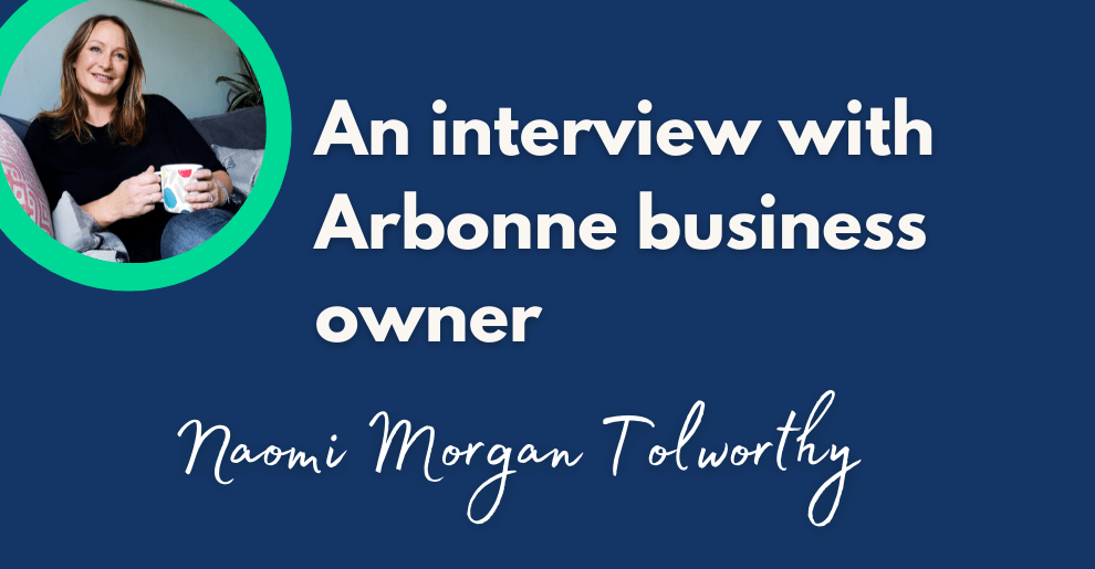 Blog banner interview with Naomi Morgan Tolworthy of Arbonne